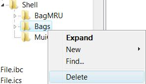 Delete Bags in Registry