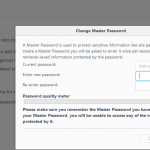 Protect Firefox Saved Logins with Master Password