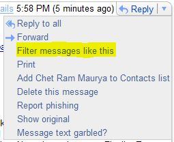 Gmail Filter Messages Like This