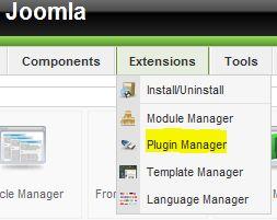 Joomla Plugin Manager
