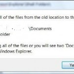 Change My Documents Folder Default Location Path in Windows