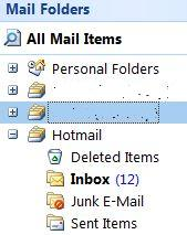 how to create separate email folder in outlook 2007