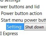 Change Windows Vista Start Menu Power Button Default Action