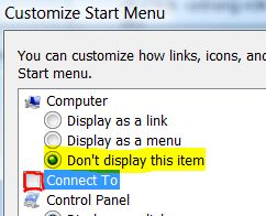 Remove Folder from Start Menu