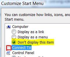 Remove Folder from Start Menu