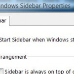 How to Enable Windows Vista Sidebar to Run On Boot or System Starts
