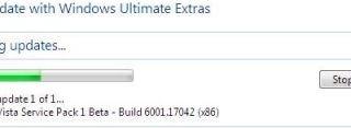 Installing Windows Vista SP1