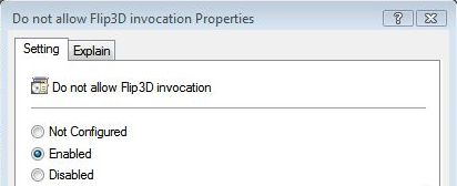 Disable Windows Flip3D Policy