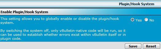 Disable vBulletin Plugin