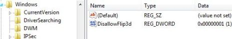 Disallow Flip 3D in Windows Vista