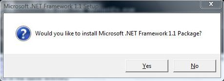 Install Microsoft  NET Framework 1 1 on Windows 10 / 8 / 7