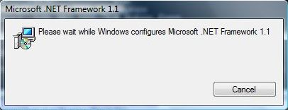Install Microsoft .NET Framework 1.1 on Windows 7 and Windows Vista