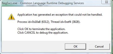.NET 1.1 Installation Error in Windows