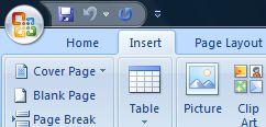 Insert Option in Microsoft Office