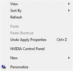Solid original right click menu in Windows Vista