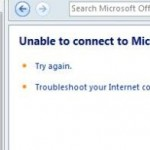 Unable to Connect to Microsoft Office Online for Office 2007 Templates