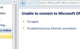Unable to connect to Microsoft Office Online