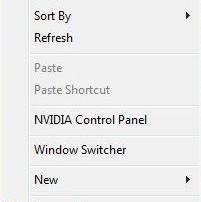 Window Switcher in Right Click Menu