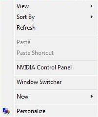 Window Switcher in Right Click Menu