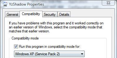 YzShadow Compatibility in Windows Vista