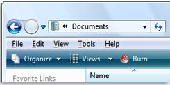 Menu bar in Windows Explorer