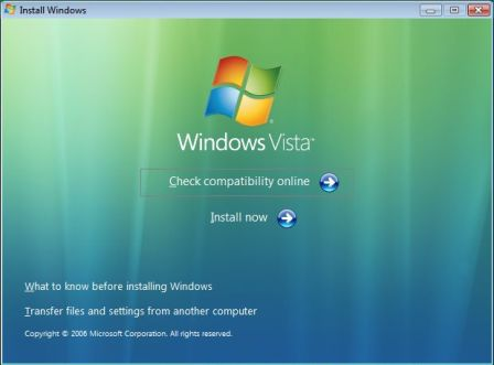 Install 64-bit Windows Vista
