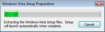 Windows Vista Setup Preparation