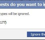Clear All and Ignore All Facebook Requests and Invitations