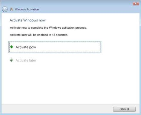Activate Interrupt During Windows Vista Logon