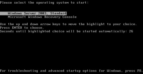 Recovery Console on Boot Menu
