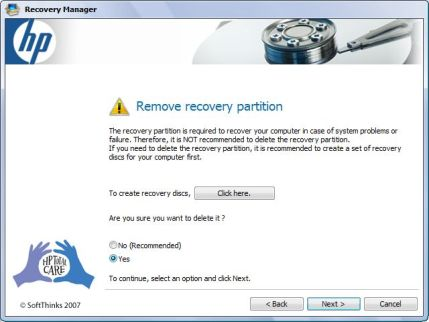 Remove Recovery Partition