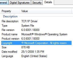 TCPIP.sys Version