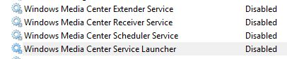 Windows Media Center Services