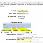 How to Add E*Trade Investment Brokerage Trading Account as Paypal Bank Account for Withdrawal and Deposit