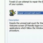 Fix / Repair / Reset Incorrect or Invalid Unread Mail Count in Windows XP Welcome Screen