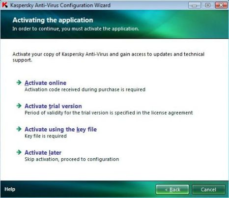 Online Activation of Kaspersky Internet Security