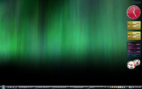 Aurora Windows Vista Screen Saver on Desktop Easter Egg