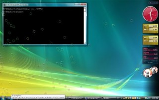 Popping Up Bubbles on Windows Vista Desktop Visual Effect Easter Egg