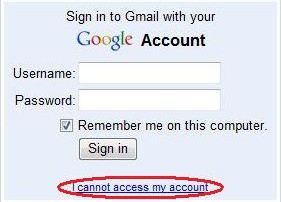 Change Gmail and Google Account Password