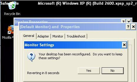 Change Screen Resolution in Safe Mode