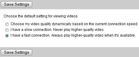 Set Higher Quality Video as YouTube Playback Default