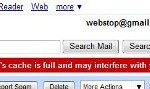 Fix Your Browser's Cache is Full and May Interfere with Your Gmail Experience Error