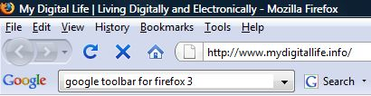 Google Toolbar for Firefox 3