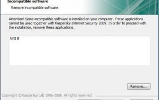 Incompatible Software Error When Installing Kaspersky