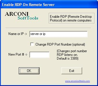 Acroni Remote Desktop Enable Utility