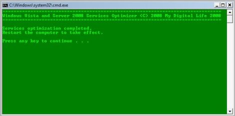 Successful Changing Startup Type via Command Prompt