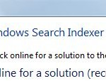 Fix Windows Vista Search Indexer Has Stopped Working with KB952093
