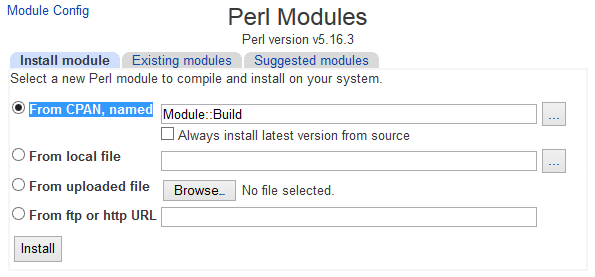 Install Perl Modules