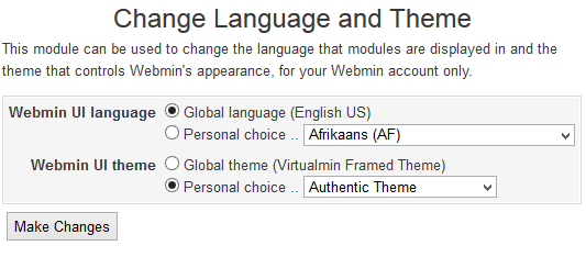 Change to Authentic Theme