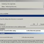 Citrix XenApp Discovery Error (Domain Name or Admin Password Change)